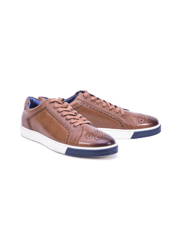 Robert Graham Gettys Sneaker Lace Up Cognac