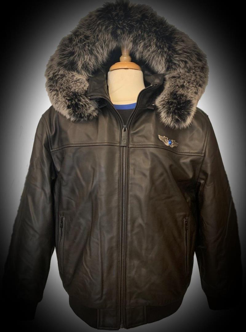 Bigs Originale Men's Lambskin Leather W Hood Jacket