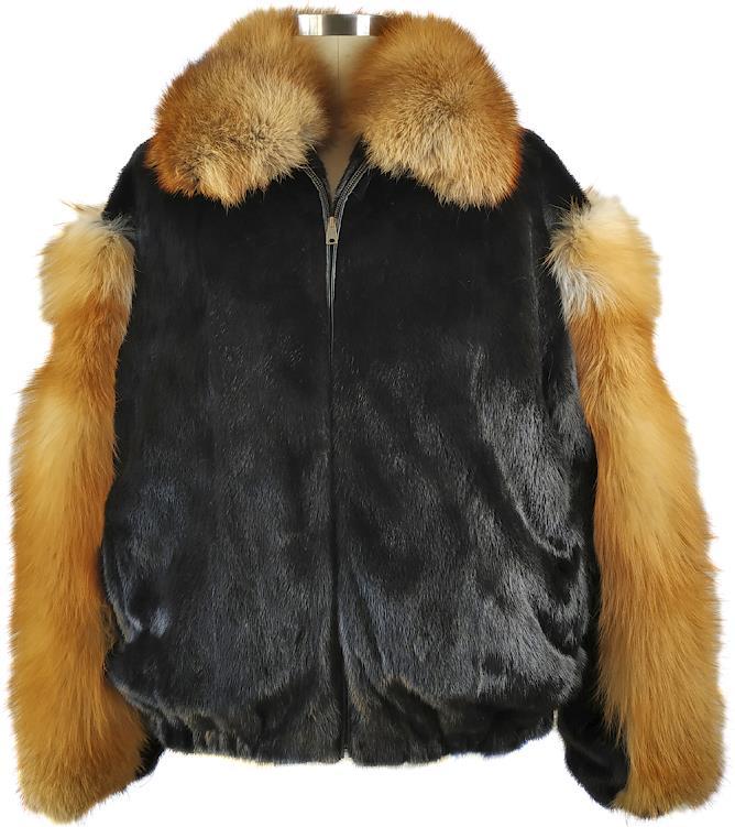 Winter Furs Men's Fox Fur Jacket