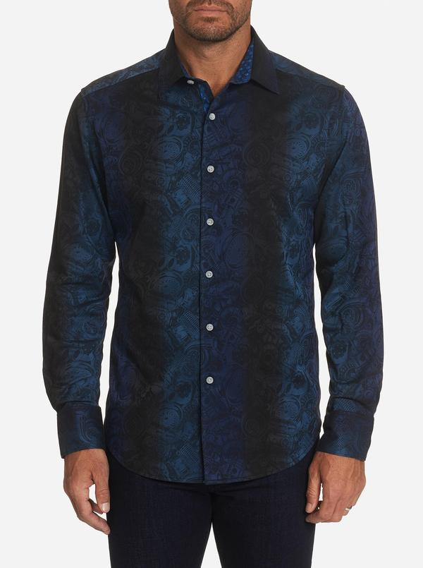 Robert Graham Classic Fit Trasnsmission Sport Shirt Navy