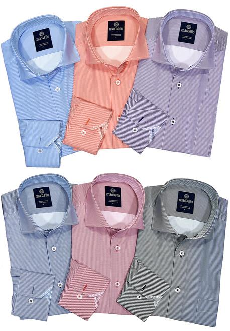 Marcello Easy Care Stripe Sport Shirts WS10