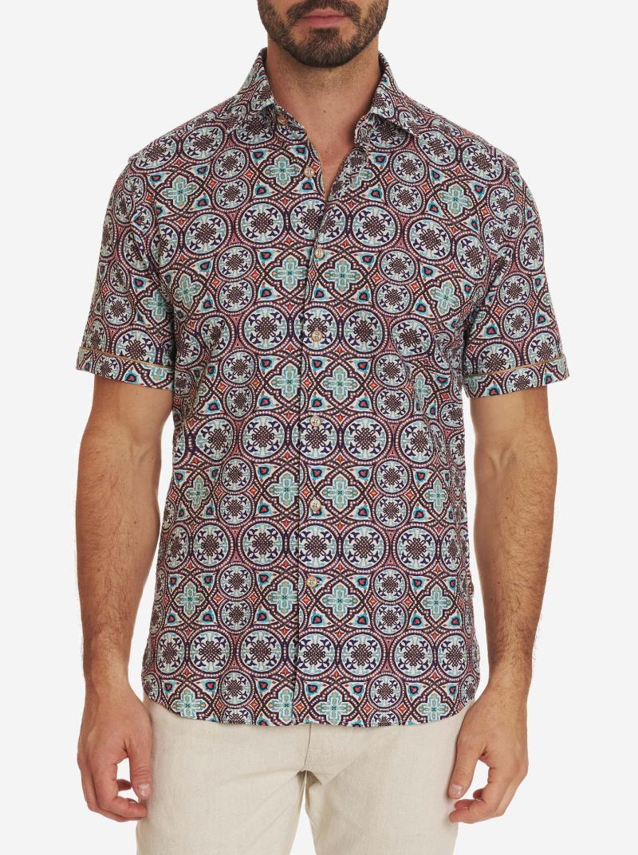 Robert Graham Carbone Short Sleeve Shirt Multi