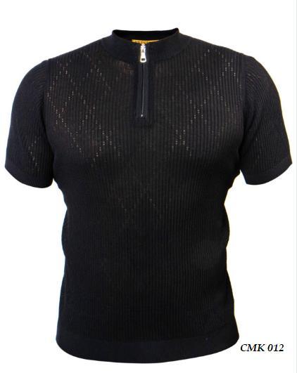 Prestige Knit Mockneck Zip Tee Shirt CMK-012