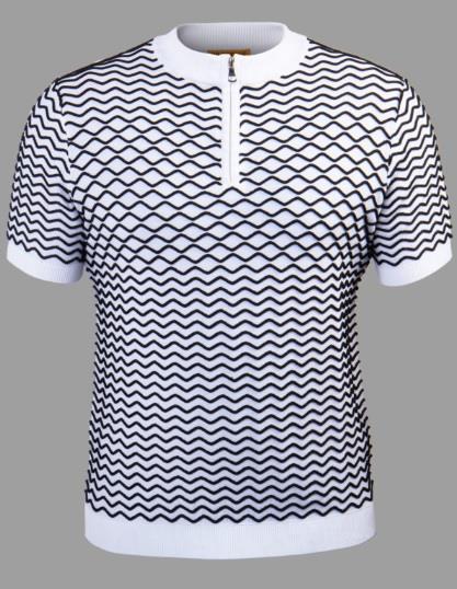Prestige Knit Mockneck Zip Tee Shirt CMK-015