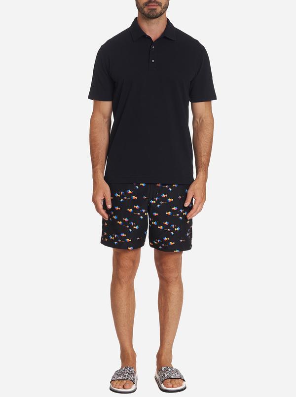 Robert Graham Fish Tank Swim Trunks Shorts Black
