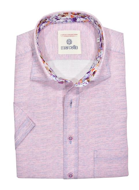 Marcello Classic Short Sleeve Sport Shirt Lilac W1020S