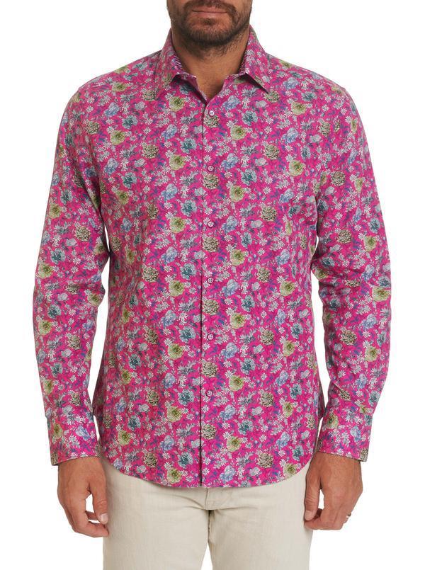 Robert Graham Bowmont Gardens Sport Shirt Magenta