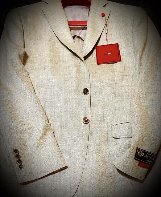 Peerless Tailor Red Loro Piana Fabric Sport Coat Tan