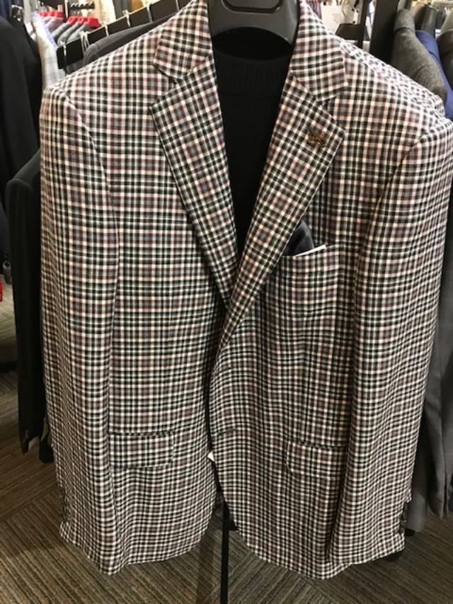 Pal Zileri Checker Sport Coat Black/White
