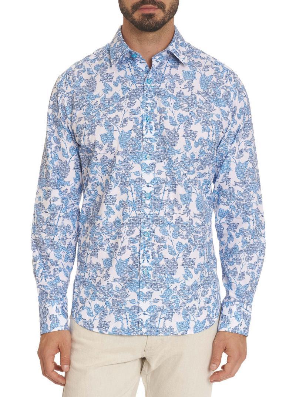 Robert Graham Island Garden Sport Shirt Blue