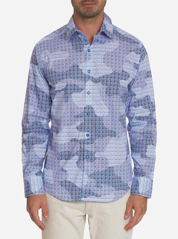 Robert Graham Courageous Sport Shirt Blue stock