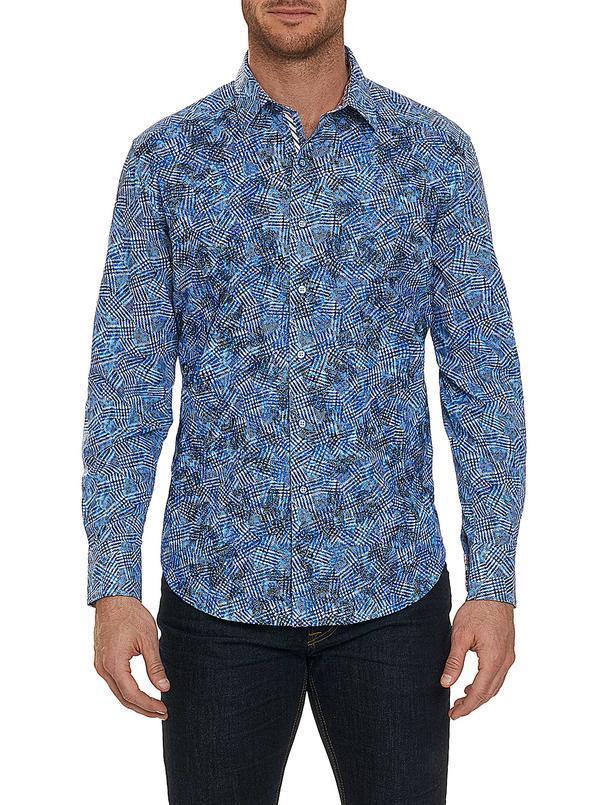 Robert Graham BIG Hutchinson Sport Shirt Blue Stock