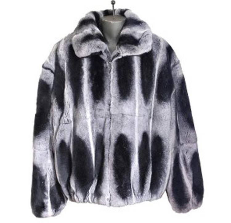 Winter Fur Chinchilla Rex Rabbit Fur Jackets
