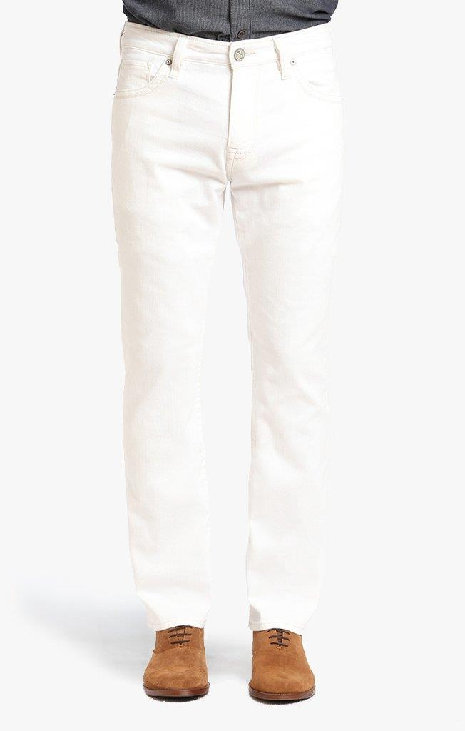 34 Heritage Courage Straight Leg Jeans In White Denim