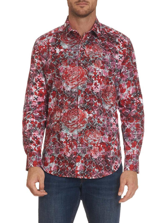 Robert Graham Blood Rose Sport Shirt Red