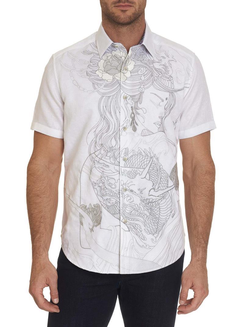 Robert Graham Eastern Beauty Short Sleeve Shirt White