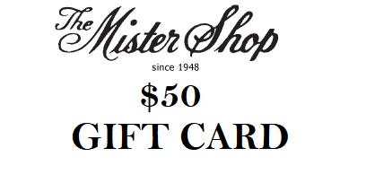 THE MISTER SHOP GIFT CARD $50