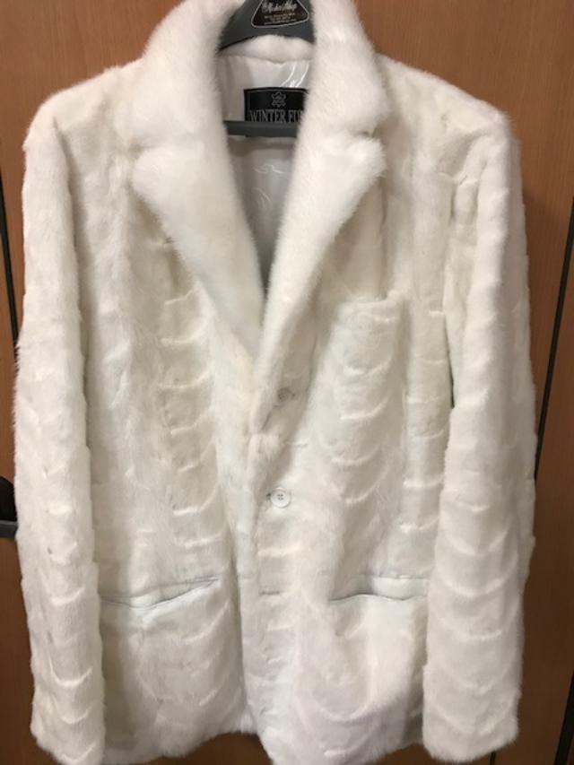 Winter Furs Mens Mink Sport Fur Jacket White