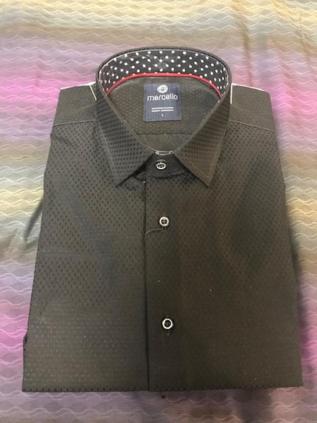 Marcello Sport Classic Fit Sport Shirt Black Dot