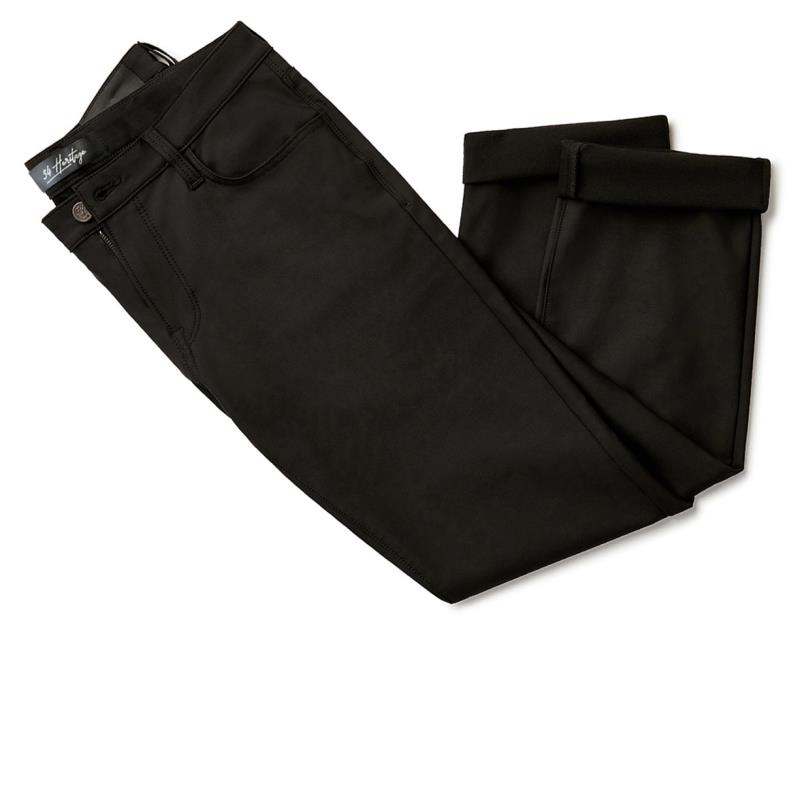34 Heritage Charisma Relaxed Straight Pants In Select Double Black