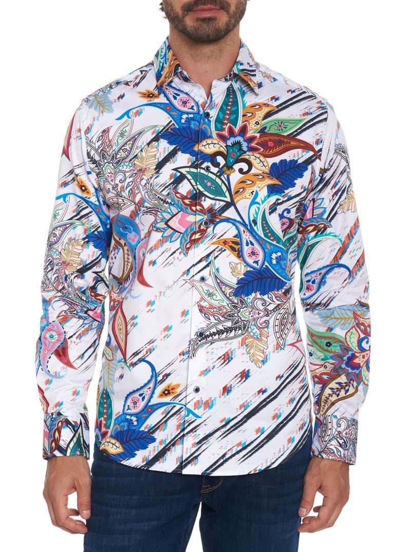 Robert Graham Granger Long Sleeve Sport Shirt Multi Stock