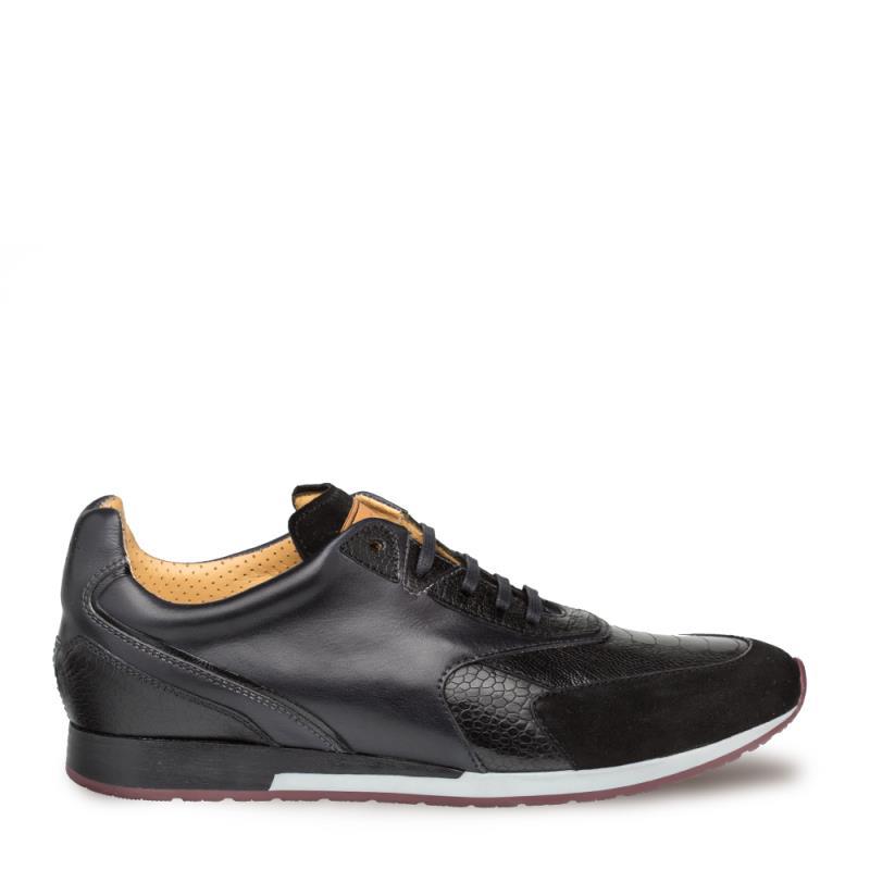 Mezlan Chiron Ostrich Paw Lace Up Sneaker 4660-P