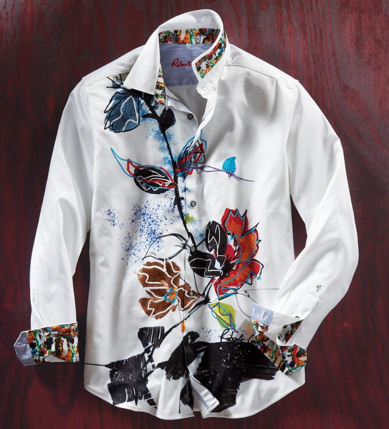 NEW Robert Graham Study Of Florals Long Sleeve Sport Shirt