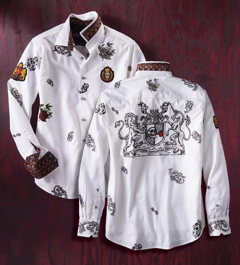 NEW Robert Graham Medici Long Sleeve Sport Shirt