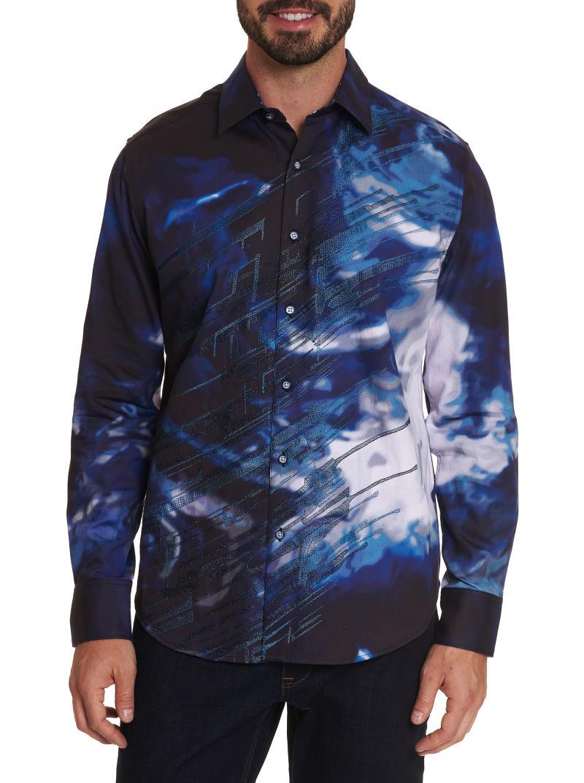 NEW Robert Graham Perfect Storm Sport Shirt Navy