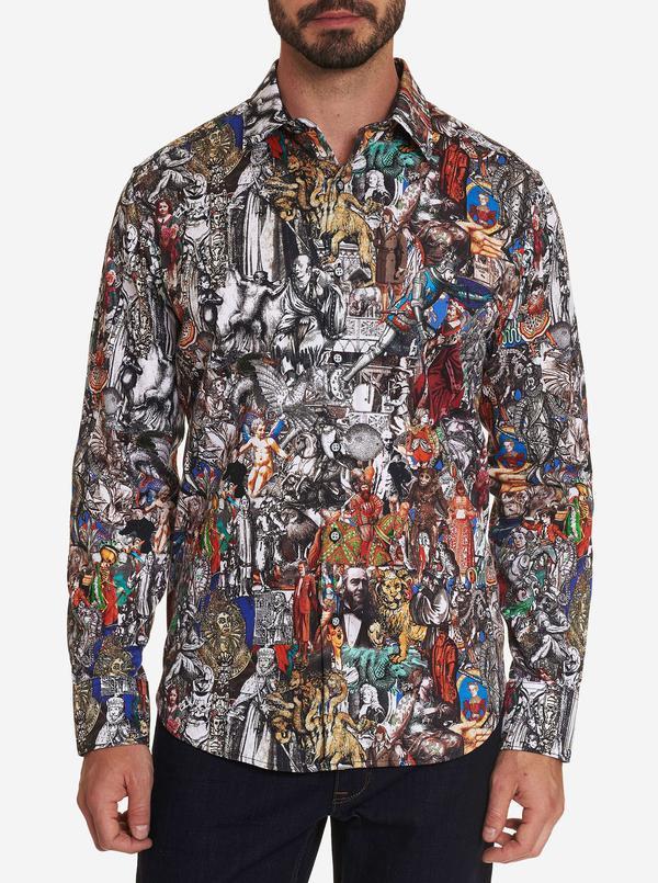 NEW Robert Graham Masterpiece Sport Shirt Multi