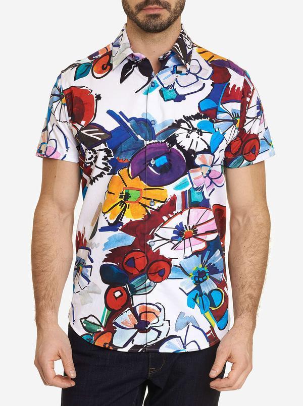 NEW Robert Graham Danti Short Sleeve Shirt Multi
