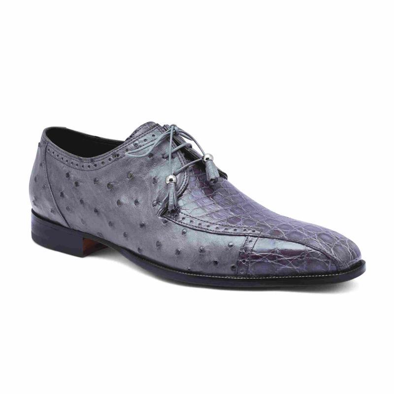 2020 Fall Mauri Duke Crocodile Flanks Lace Up Shoe 3058