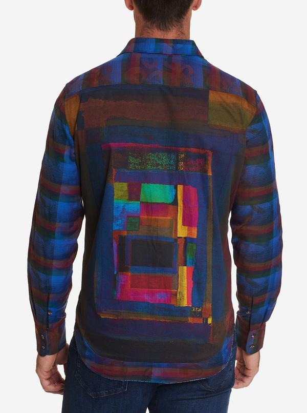 NEW Robert Graham Limited Edition The Geometric Sport Shirt Multi