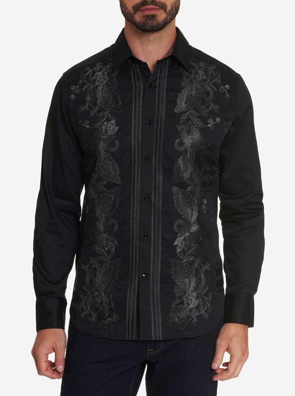 NEW ROBERT GRAHAM LIMITED EDITION The Gillman Sport Shirt Black