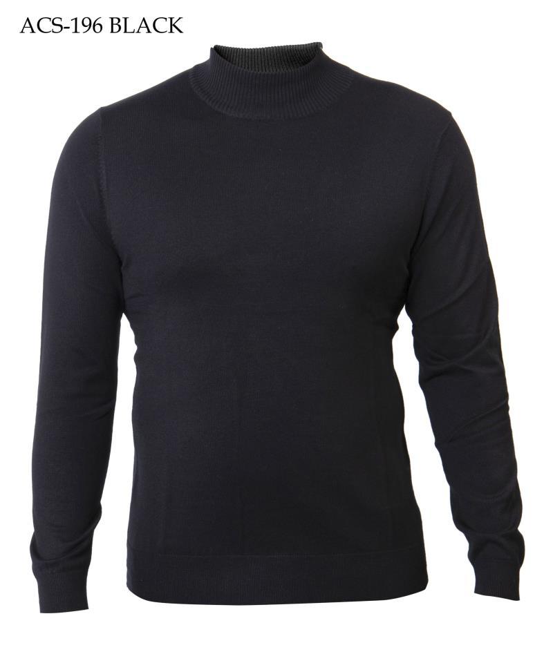Prestige Mock Neck Cotton Knit Sweaters ACS 196