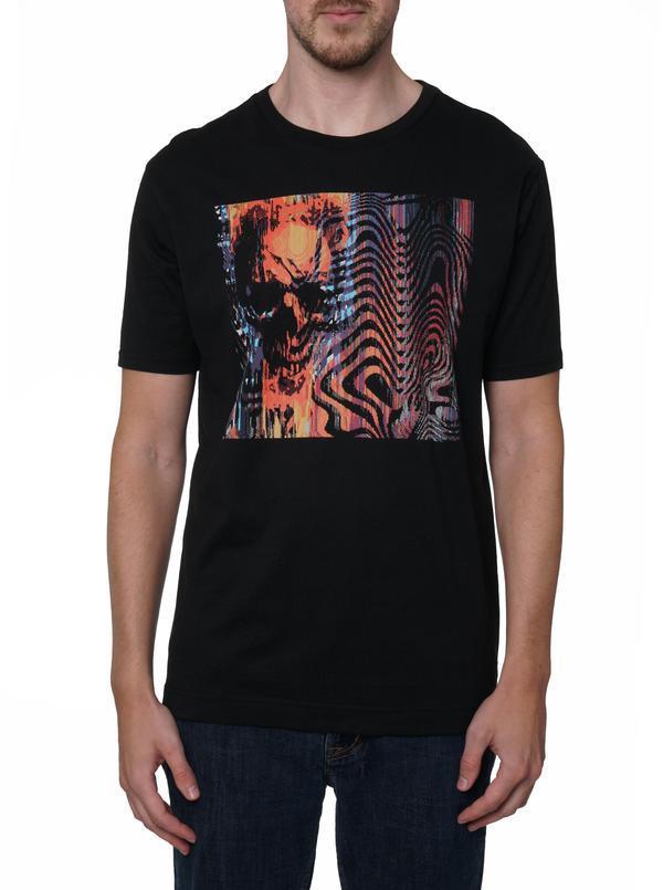NEW Robert Graham Classic Fit Trippin T-Shirt Black
