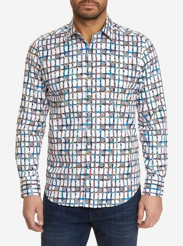 NEW Robert Graham Classic Fit Marcel Sport Shirt Multi