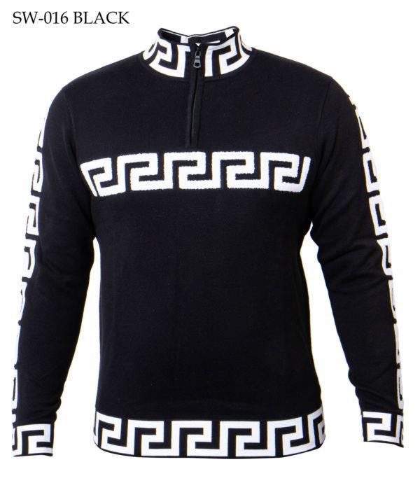 Prestige Greek Keys Zip Sweaters SW-016