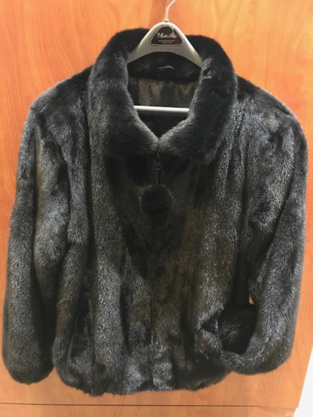Gliagias Furs Women's Full Skin Mink Bomber Jacket 5380