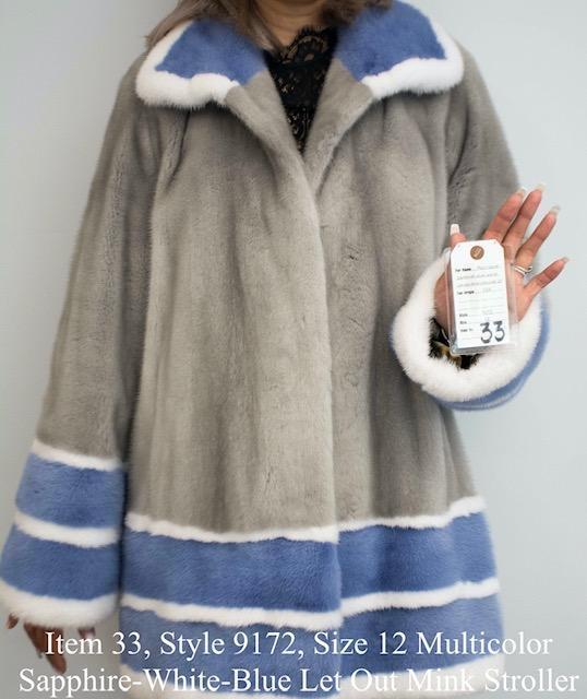 Gliagias Furs Women's Full Skin Mink Stroller Jacket 9172