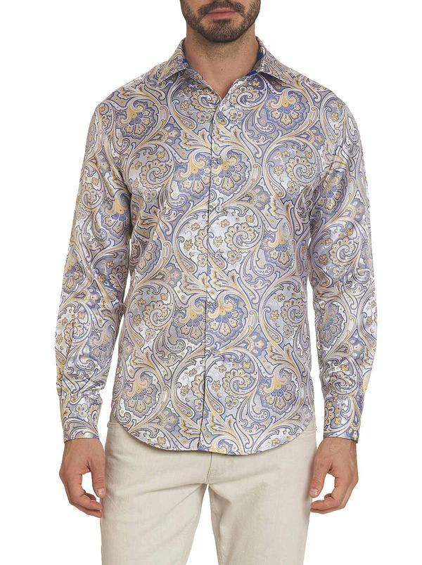 NEW Robert Graham Limited Edition STATUARIO SILK SPORT SHIRT