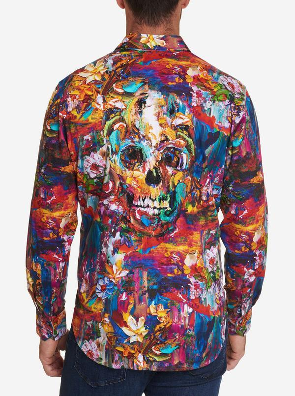 NEW Robert Graham Art Of Darkness Sport Shirt