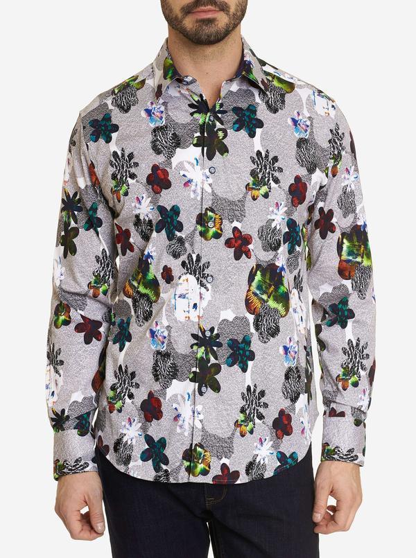 Robert Graham Color Effect Sport Shirt Multi