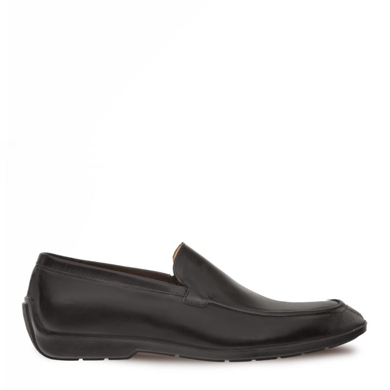 Mezlan Barkley Calfskin Slip On Shoe Black 9775