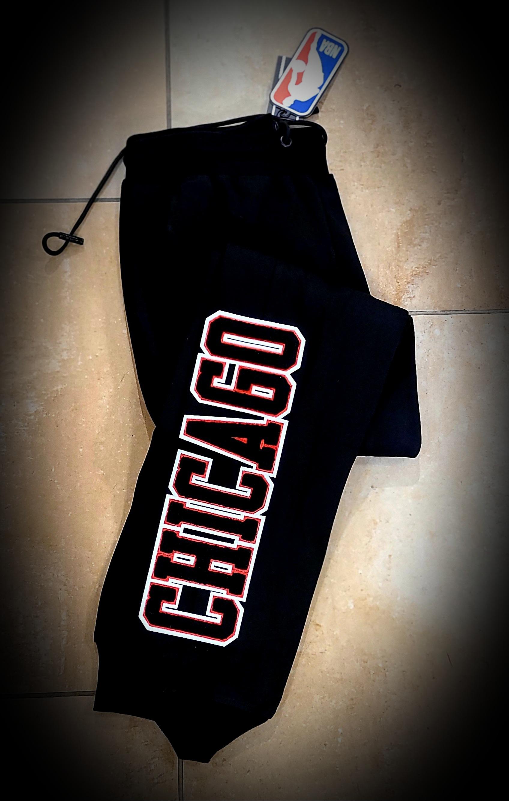 CHICAGO BULLS BLACK SWEAT PANTS