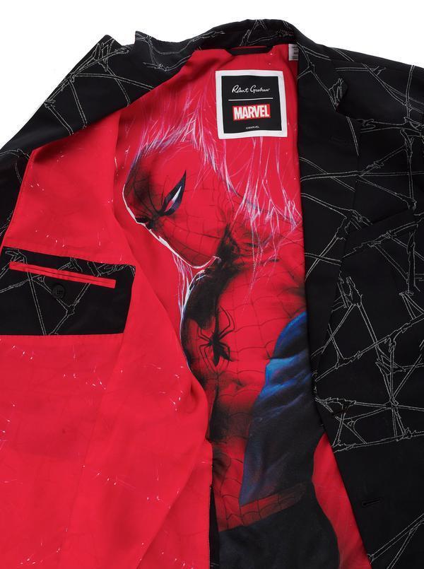 Robert Graham X Marvel Spider Sense Silk Sport Coat Black