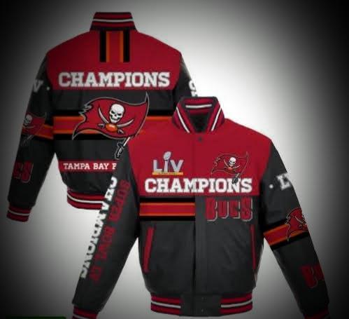 Branded Black Super Bowl LV Championship All Leather Full Snap Jacket -