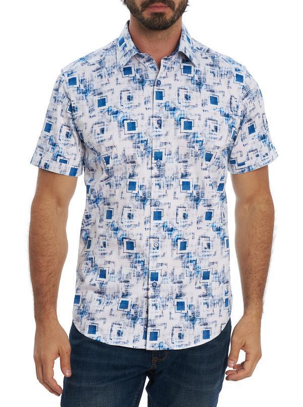 Robert Graham Kendricks Short Sleeve Shirt Blue