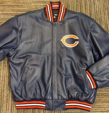 CHICAGO BEARS ALL LEATHER JACKET (2x-3x)
