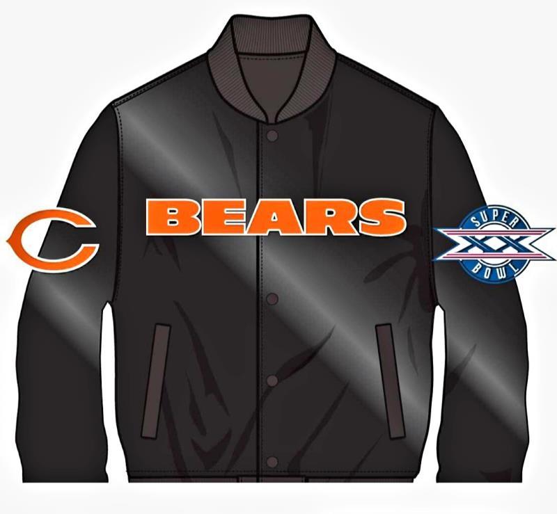 Bears Logo Satin Bomber